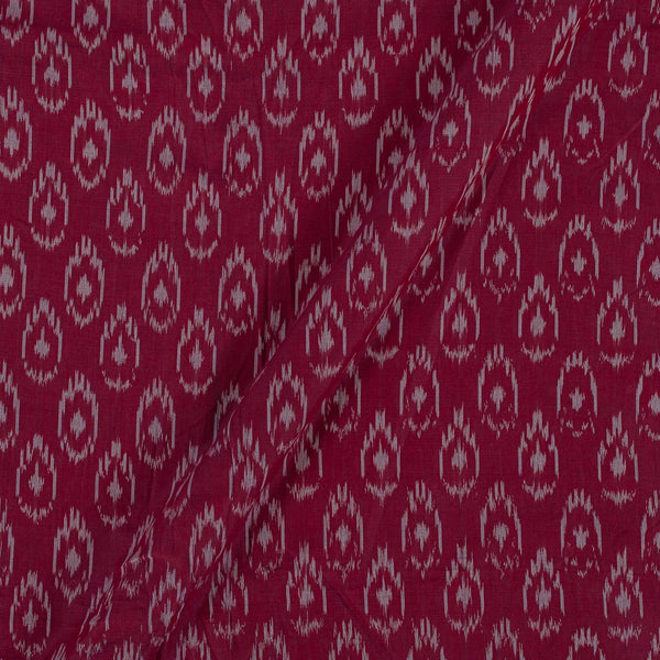 Mercerised Cotton Ikat Berry Colour Fabric