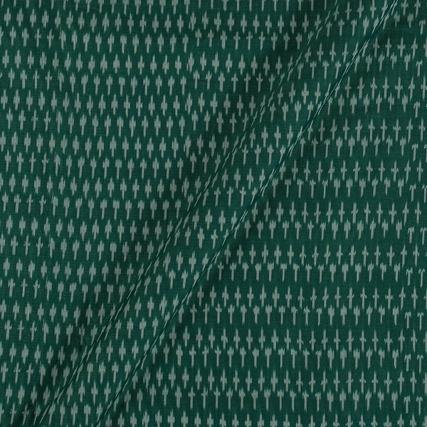 Mercerised Cotton Ikat Fern Green Colour Fabric