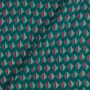 Mercerised Cotton Ikat Peacock Green Colour Fabric