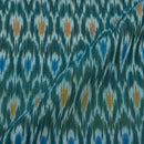 Blue Colour 45 inches width Mercerised Ikat Fabric