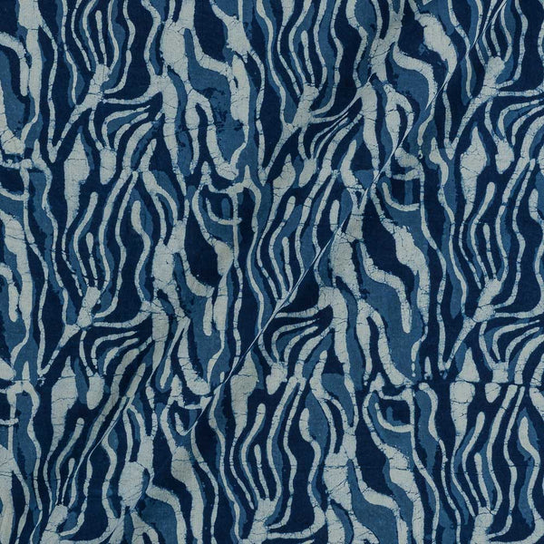 Cotton Indigo Colour Geometric Hand Block Print Fabric