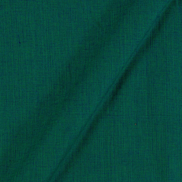 Two Ply Green Blue Mixes 43 Inches Width Handloom Cotton Fabric