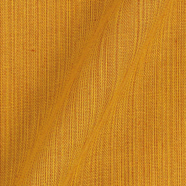 Two ply Handloom Cotton Yellow Colour 43 inches Width Fabric