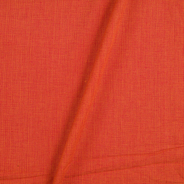 Two ply Cotton Orange Red Mix Tone 42 inches Width Fabric