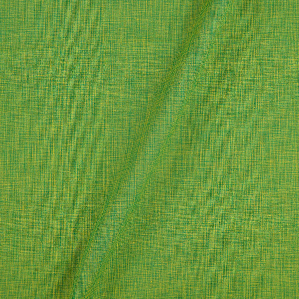 Two ply Cotton Parrot Green Colour Fabric