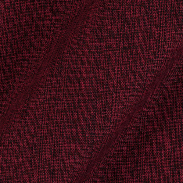 Two ply Cotton Maroon Black Mix Tone 43 inches Width Fabric
