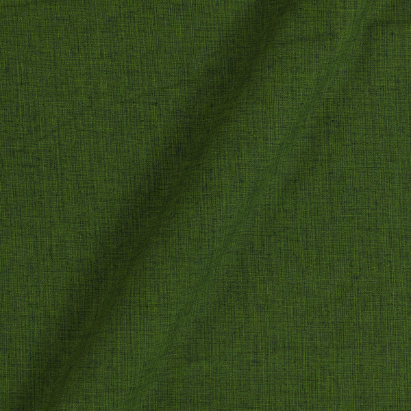Two Ply Forest Green 43 Inches Width Handloom Cotton Fabric
