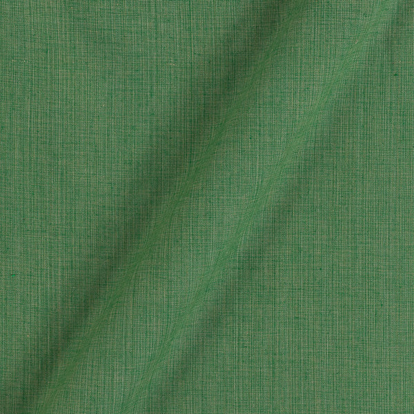 Two Ply Pale Green 43 Inches Width Handloom Cotton Fabric
