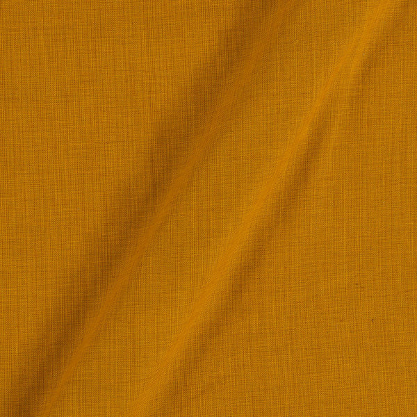 Two Ply Cotton Mustard Yellow 43 Inches Width Fabric