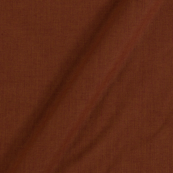 Two Ply Brown 43 Inches Width Handloom Cotton Fabric