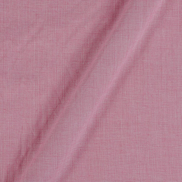 Two Ply Petal Pink 43 Inches Width Handloom Cotton Fabric