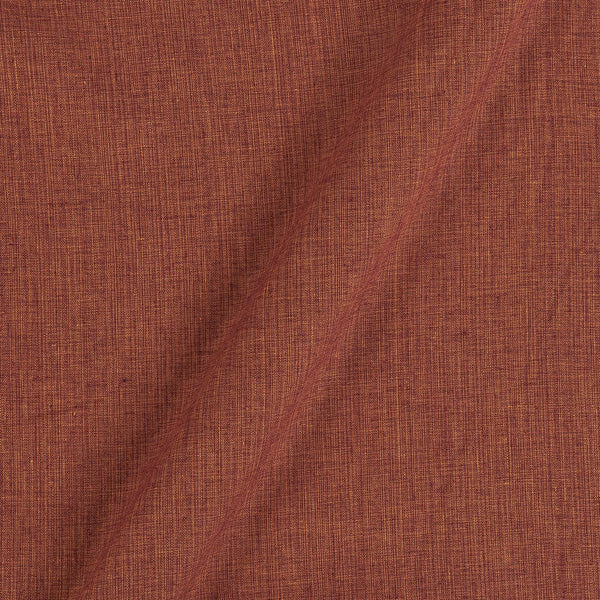 Two Ply Cinnamon  43 Inches Width Handloom Cotton Fabric