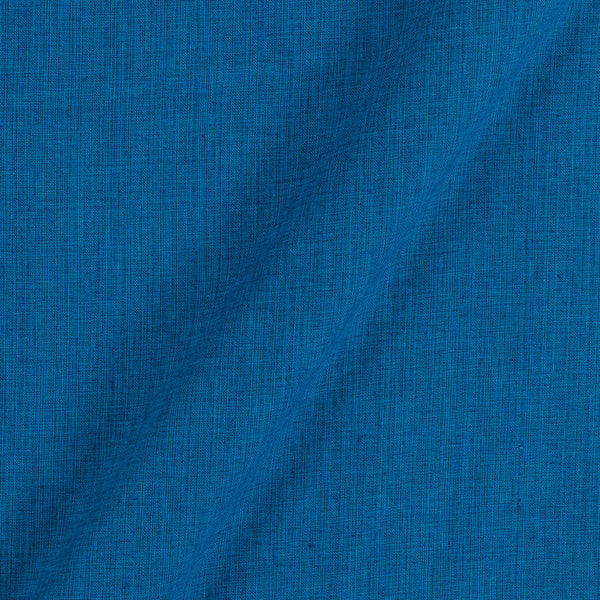 Two Ply  Ocean Blue 43 Inches Width Handloom Cotton Fabric