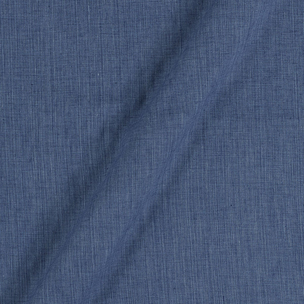 Two Ply Steel blue 43 Inches Width Handloom Cotton Fabric