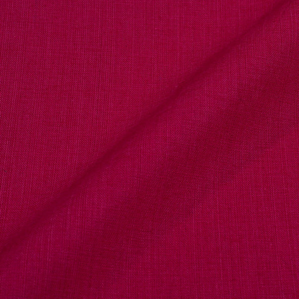 Two ply Handloom Cotton Crimson Colour Fabric