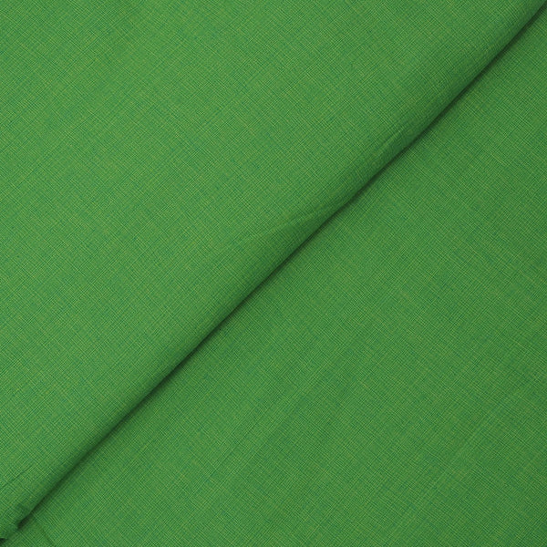 Green Colour Two ply khadi Type Handloom Cotton Fabric