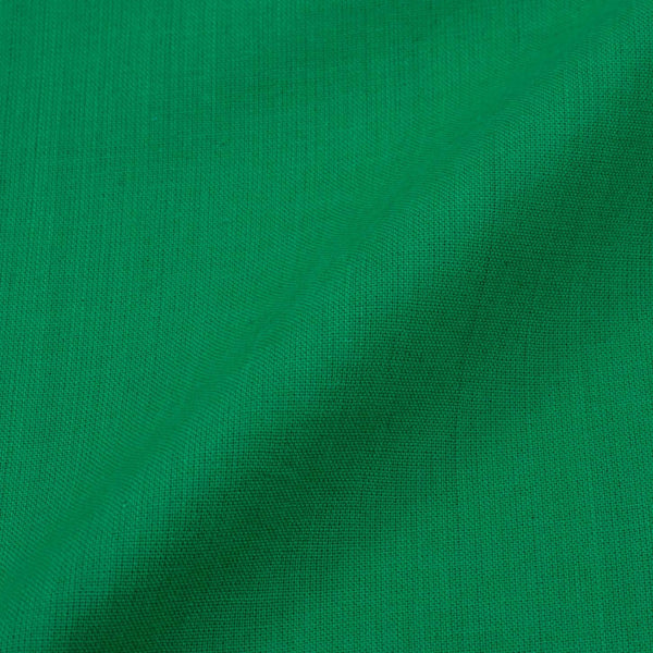 Two ply Cotton Emerald Green Colour Fabric