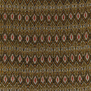 Cotton Rajasthani Pattern Ikat Olive Colour 42 inches Width Fabric