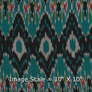 Cotton Rajasthani Pattern Ikat Peacock Green Colour 42 inches Width Fabric