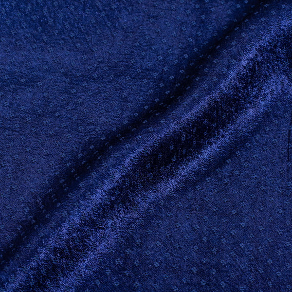 Dani Gaji Royal Blue Colour 45 Inches Width  Fabric