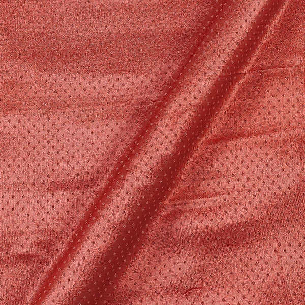 Dani Gaji Hot Coral Colour 45 Inches Width  Fabric
