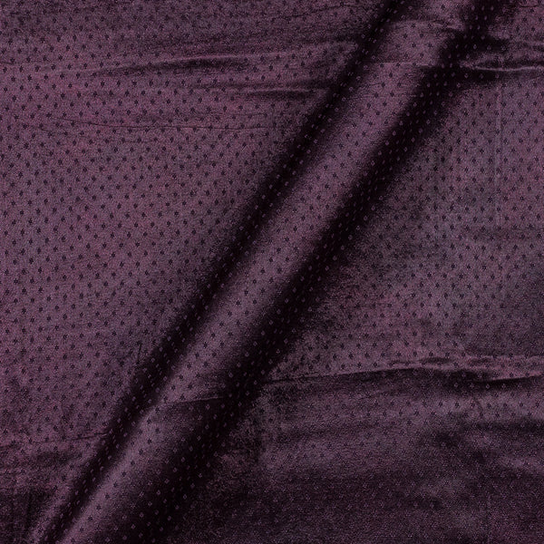 Dani Gaji Dark Plum Colour 45 Inches Width  Fabric