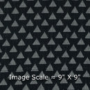 Cotton Self Jacquard Black Colour 42 Inches Width Washed Geometirc FabricFabric