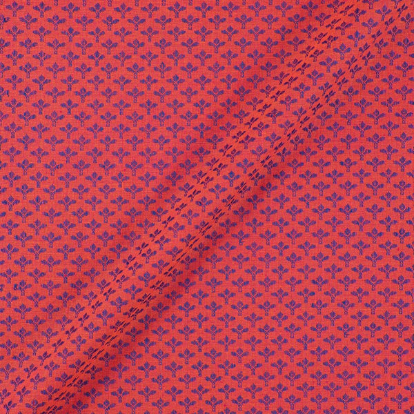 Cotton Self Jacquard Carrot Pink Colour 43 inches Width  Washed Fabric