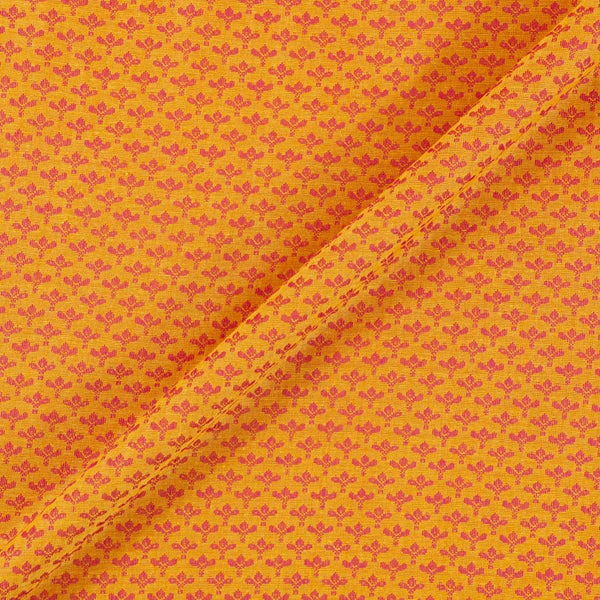 Cotton Self Jacquard Yellow Colour 43 inches Width Washed Fabric