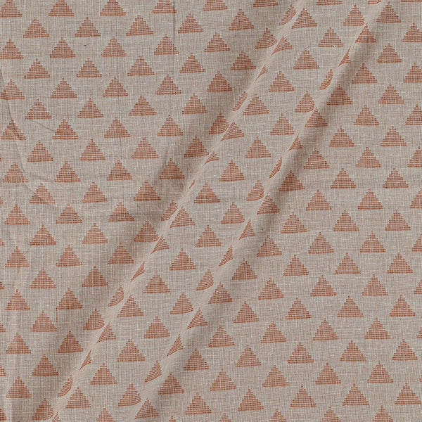 Cotton Self Jacquard Beige Colour Washed Fabric