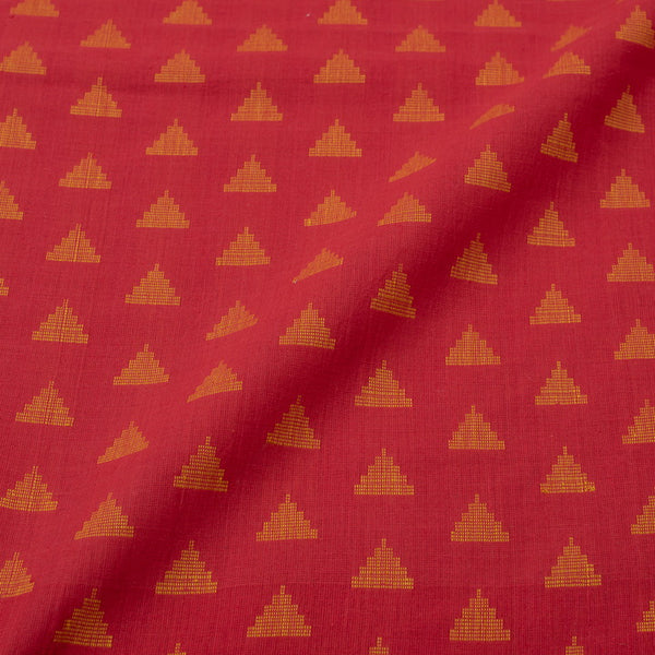 Red Colour Self Jacquard Cotton Fabric