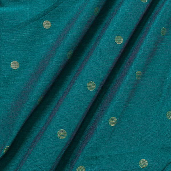 Spun Dupion Rama Green Two Tone Golden Butta Fabric