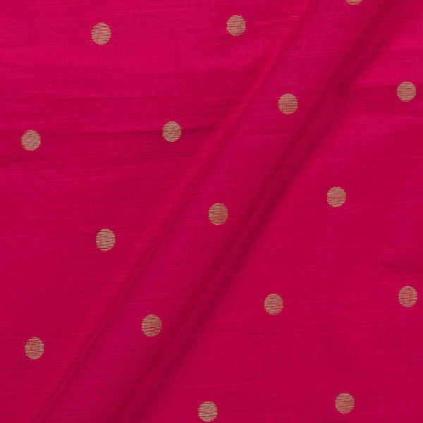Spun Dupion Coral Red Colour Golden Butta Fabric