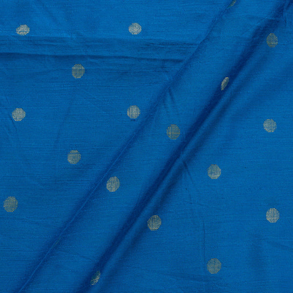 Spun Dupion Electric Blue Colour Golden Butta Fabric