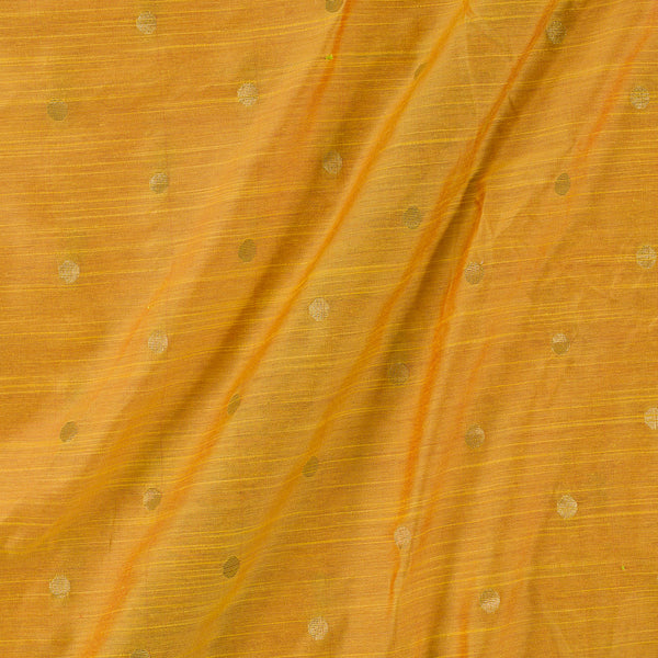 Spun Dupion Golden Yellow To Red Two Tone Golden Butta Fabric