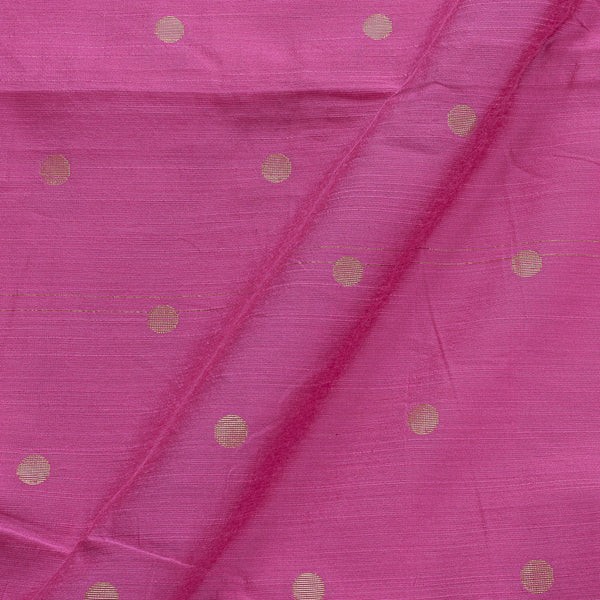 Spun Dupion Lavender Pink Colour Golden Butta 43 Inches Width Fabric