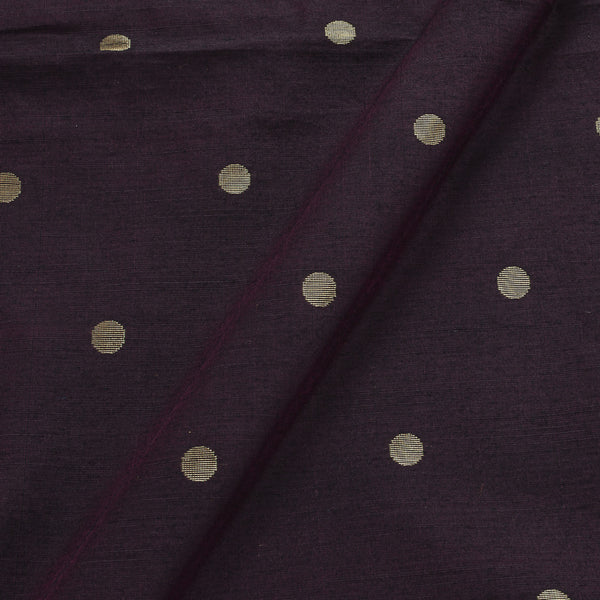 Spun Dupion Wine Colour Golden Butta Fabric