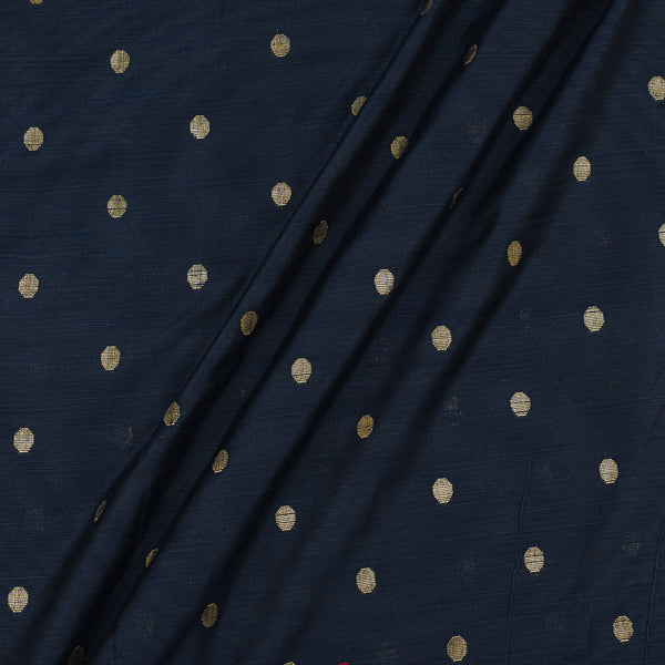 Spun Dupion Dark Teal Colour Golden Butta Fabric