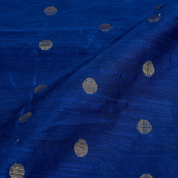 Royal Blue Colour Golden Butta Spun Dupion Fabric