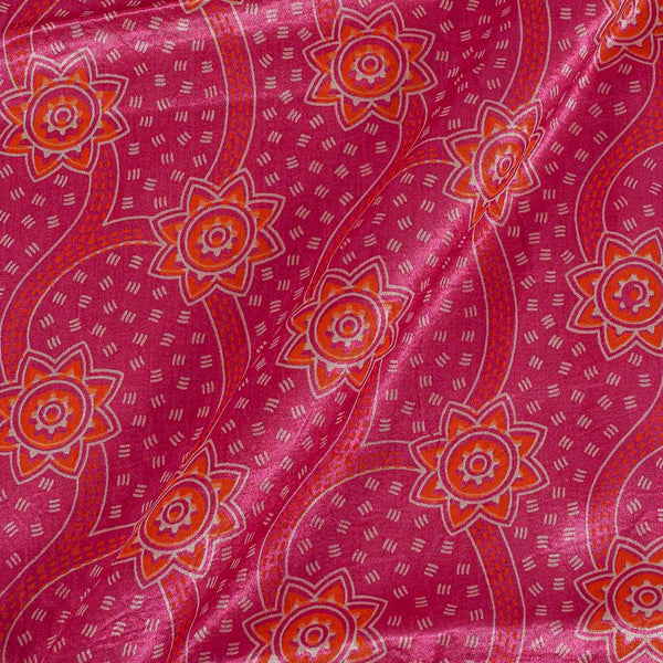 Gaji Berry Pink Colour 45 inches Width Geometric Print Fabric