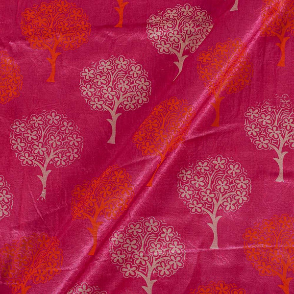 Gaji Berry Pink Colour 45 inches Width Tree Motif Print Fabric