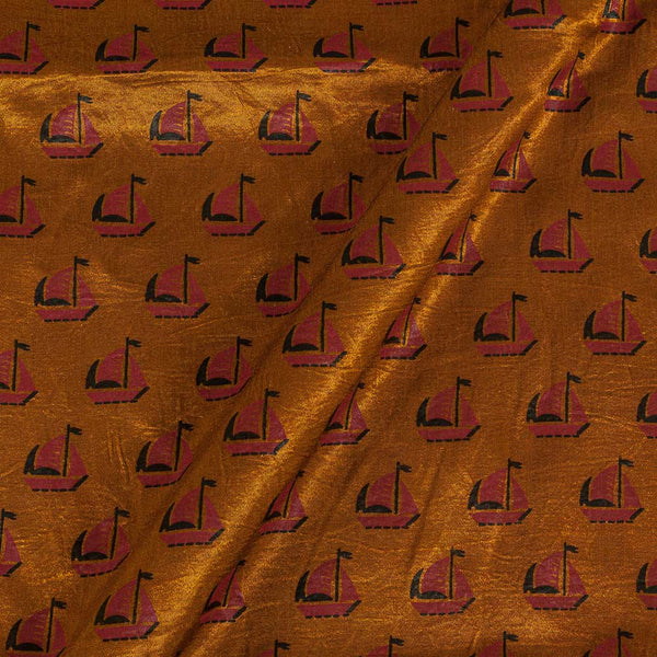 Gaji Bronze Colour 45 inches Width Quirky Print Fabric