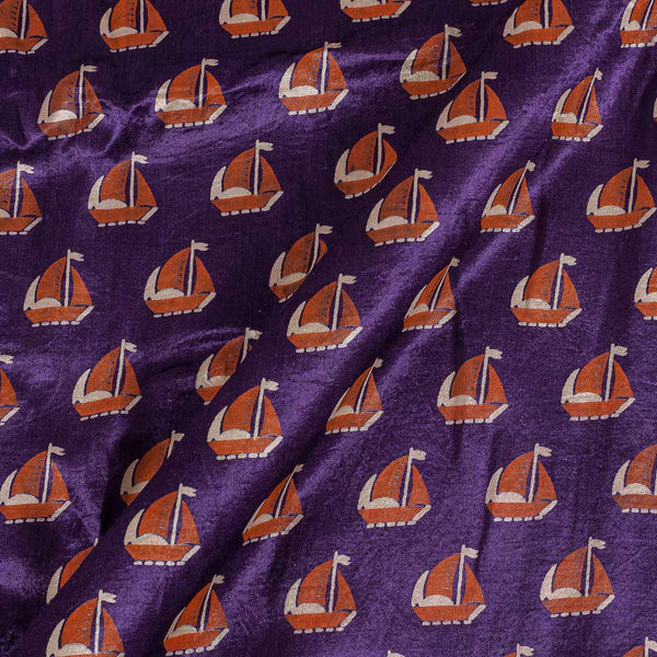 Gaji Purple Colour 45 inches Width Quirky Print Fabric