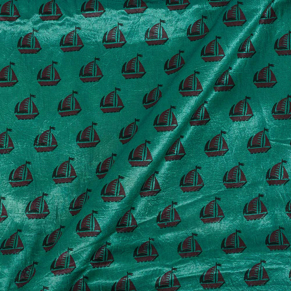 Gaji Mint Green Colour 45 inches Width Quirky Print Fabric