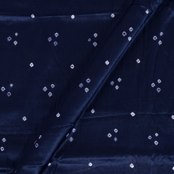 Gaji Midnight Blue Colour Authentic Ek Bundi Bandhani Fabric