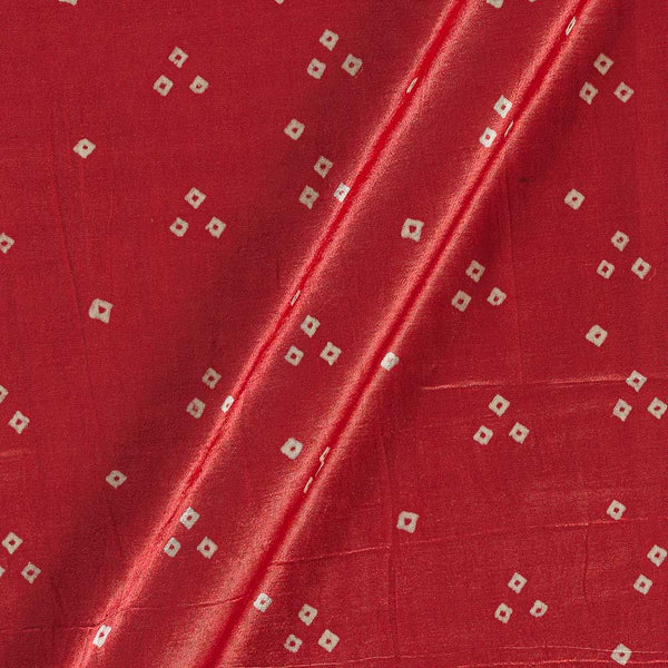 Gaji Bandhej Authentic Ek Bundi Peach Orange Colour Fabric