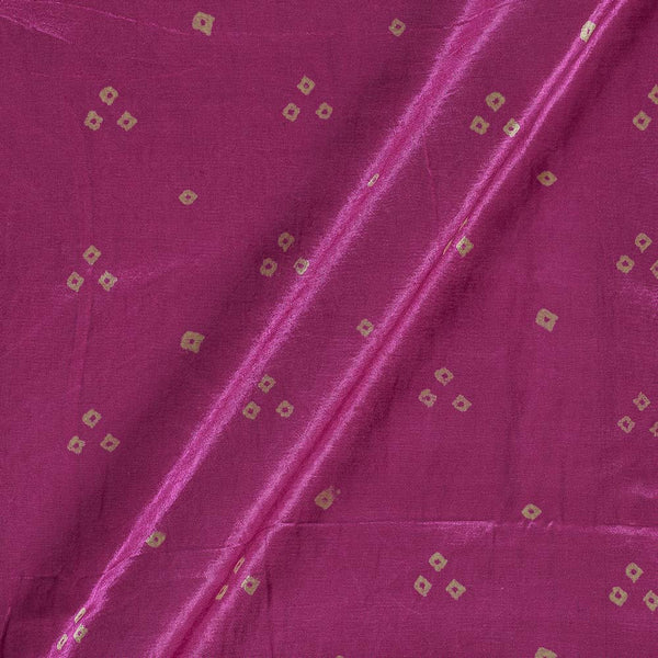 Gaji Bandhej Authentic Ek Bundi Candy Pink Colour Fabric
