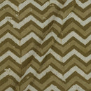 Dabu Cotton Olive Colour Chevron Block Print Fabric