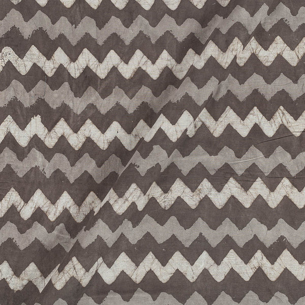Dabu Cotton Cedar Colour Chevron Hand Block Print 43 Inches Width Fabric