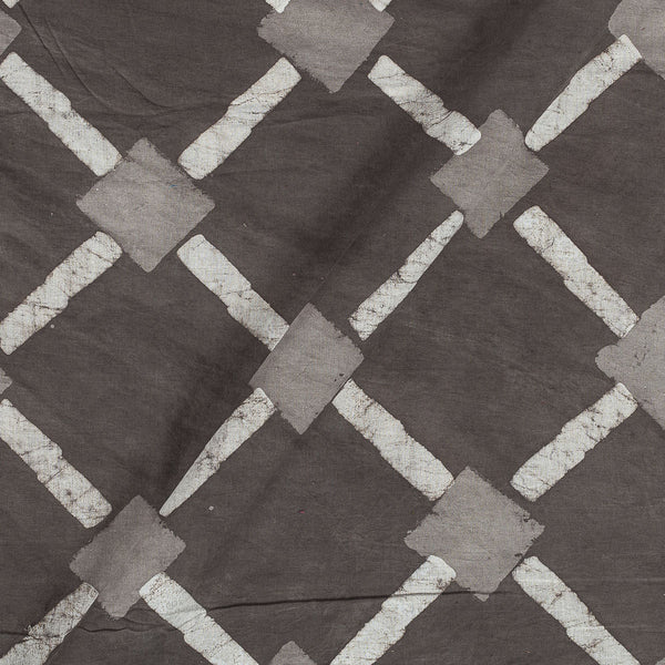 Dabu Cotton Cedar Colour Geometric Hand Block Print 43 Inches Width Fabric